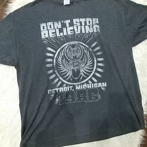 "JOURNEY RETRO TEE SHIRT ""DON'T STOP BELIEVING"""